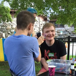 Youth face painting