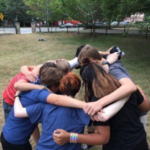 Youth huddle