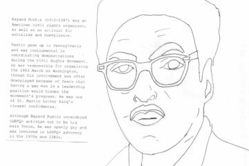 Bayard Rustin coloring sheet
